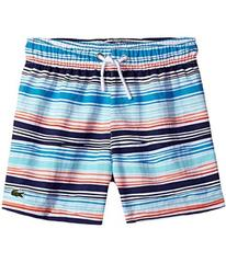 Lacoste Irregular Stripe Swimsuit (Little Kids/Big