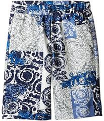 Versace All Over Barocco Print Sweatshorts (Toddle
