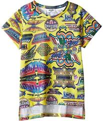 Moschino Short Sleeve All Over Logo Graphic T-Shir