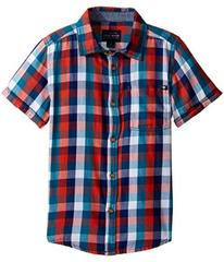 Lucky Brand Pier Short Sleeve Camp Shirt in Twill