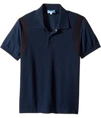 Lanvin Short Sleeve Polo w/ Logo Detail On Front (