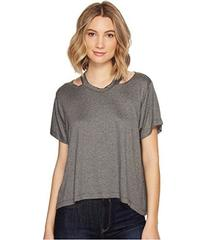 Nicole Miller Riley Jersey Cut Out Shirt