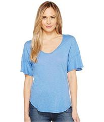 Splendid V-Neck Flutter Sleeve Top