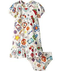 Moschino All Over Hippy Print Dress & Diaper Cover