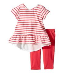 Splendid Littles Striped Top with Solid Leggings (