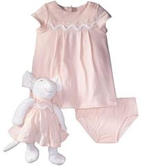 Chloe Newborn Dress/Bloomer/Mouse Toy Set (Infant)