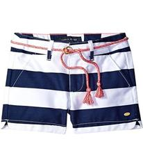 Tommy Hilfiger Rugby Stripe Shorts with Rope Belt