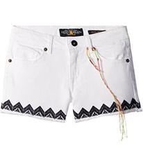 Lucky Brand Riley Stretch Denim Shorts with Embroi