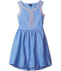 Tommy Hilfiger Chambray Embroidered Dress (Little