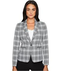Tahari by ASL Plaid Long Sleeve Jacket