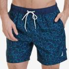 Quick Dry Floral Outline Swim Trunk