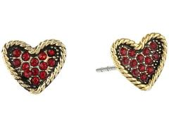 Marc Jacobs MJ Coin Heart Studs Earrings