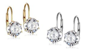 4.00 CTW Earrings Made with Swarovski Crystals (1-