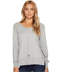 ROMEO & JULIET COUTURE French Terry V-Neck Knit Sw