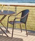 Wicker Stackable Bistro Chairs