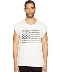 Just Cavalli Studded Flag Sleeveless T-Shirt