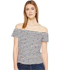 Lucky Brand Stripe Off the Shoulder Top
