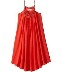 Stella McCartney Hope Flowing Crepe Dress w/ Beade