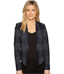 Tahari by ASL Plaid Open Front Jacket