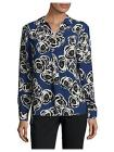 JONES NEW YORK Floral Collared Tunic