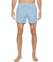 Lacoste Taffeta Gingham Swim Short Length