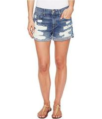 7 For All Mankind Cut-Off Short w/ Aggressive Dest
