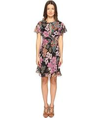 Just Cavalli Flower Power Print Flutter Sleeve Dre