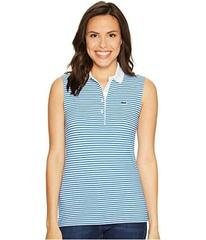 Lacoste Sleeveless Stretch Petit Pique Striped Pol