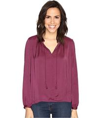 Lucky Brand Contrast Peasant Top