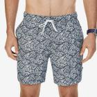 Big & Tall Quick Dry Leaf Print Swim Trunk