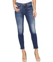 7 For All Mankind The Ankle Skinny w/ Raw Hem in B