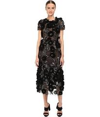 Marchesa Tulle Cocktail with Gunmetal and Jet 3D F