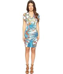 Just Cavalli Temptation Printed Short Sleeve Dress
