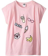 Karl Lagerfeld Short Sleeve Tee w/ Embroidered Pat