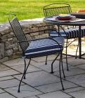 Wrought-Iron Garden Stackable Chairs