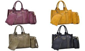 DS Collection Sophie Tote with Crossbody and Wrist