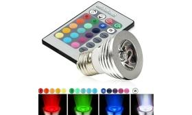 Multicolor LED Light Bulbs with Remote 2-Pack