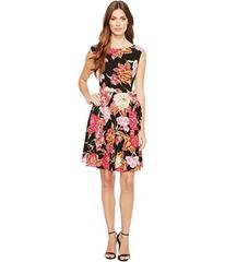 Tahari by ASL Side Tie A-Line Floral Dress
