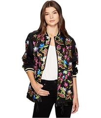 Nicole Miller Whimsical Jungle Leather Embroidered