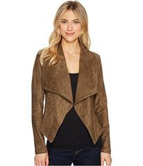 ROMEO & JULIET COUTURE Suede Draped Collar Jacket