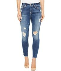 7 For All Mankind High Waisted Ankle Skinny w/ Rel