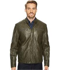 Kenneth Cole New York PU Jacket with Tab Collar De