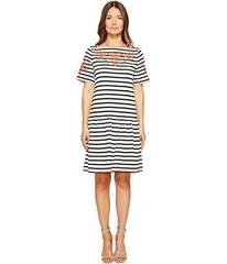 Kate Spade New York Stripe Embroidered Dress