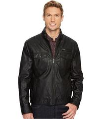 Kenneth Cole New York Zip Front PU Jacket with Zip