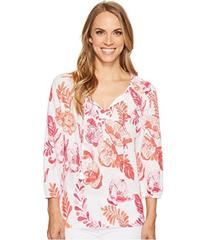 Tommy Bahama Florals Falling 3/4 Sleeve Top