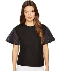 See by Chloe Cotton Embroidered Sleeve T-Shirt