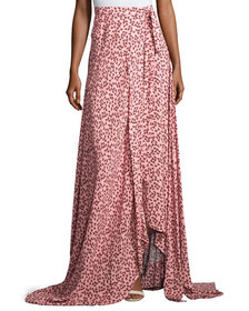 Alexis Corinna Floral-Print Tie-Side Maxi Skirt, P