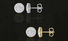 1/4 CTTW White Diamond Stud Earrings in Sterling S
