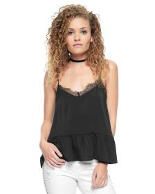 Juicy Couture SLIP LACE SOLID TOP