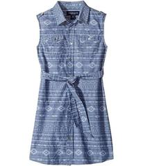 Toobydoo Tribal Chambray Belted Dress (Toddler/Lit